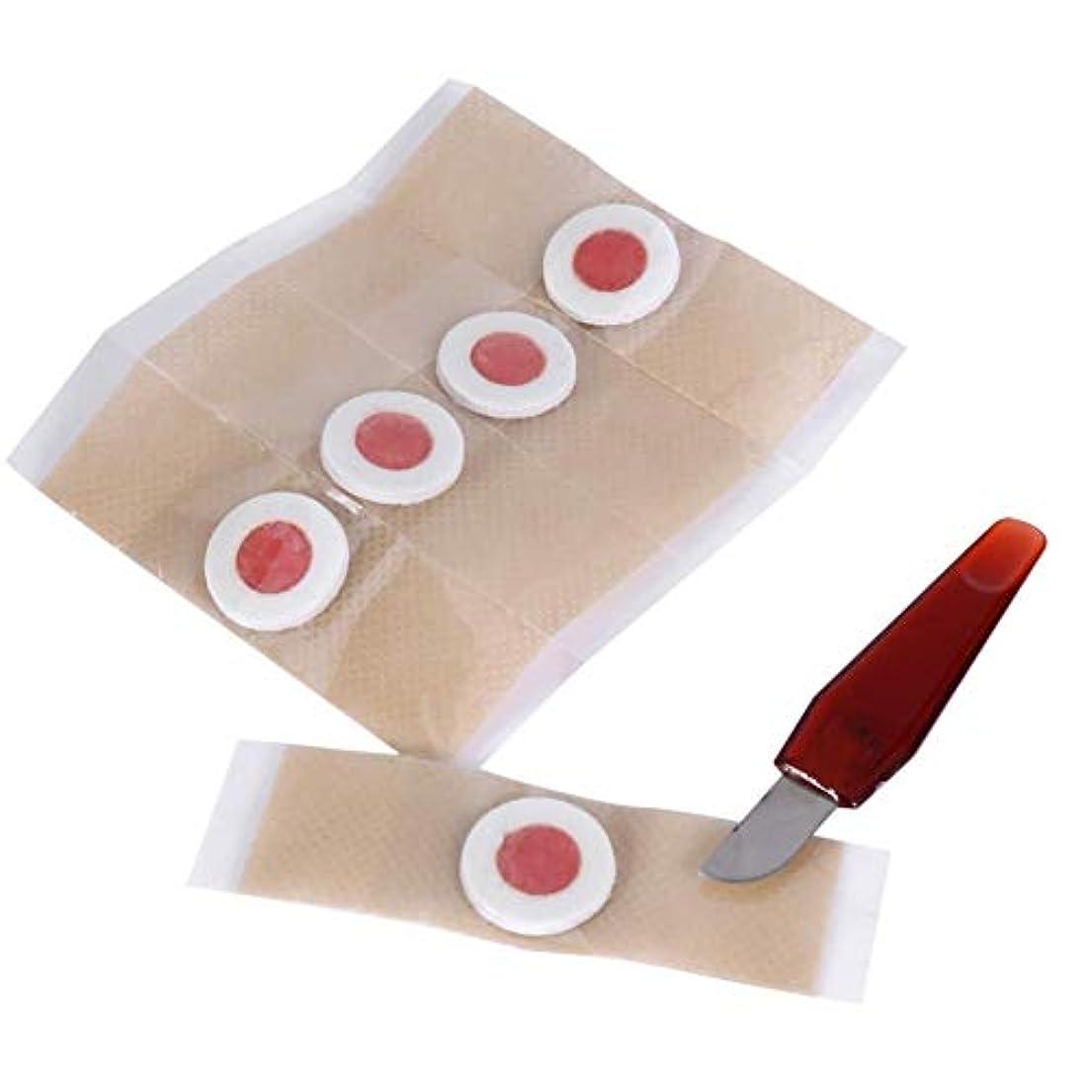下になんとなくバズ足のとうもろこしの除去、足底とつま先のカルスの除去パッドは痛みを伴うナイフの痛みの摩擦ケアプラスター(5PCS /箱)を取り除きます