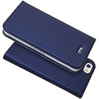 iPhone 5S 5 SE ケース 手帳型 iPhone5 iPhone5s iPhoneSE ケース カバー iPhone 5 ケース 手帳型 【iCoverCase】アイフォン アイフォン5 アイフォン5s アイフォンSE 内蔵マグネット カードポケット スタンド機能 軽量 超薄型 耐摩擦 【選べる4色】 ブルー
