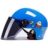 Children's Helmet Motorcycle Children's Sports Helmet Summer Sunscreen Kids Outdoor Helmet ; (Color : Blue)