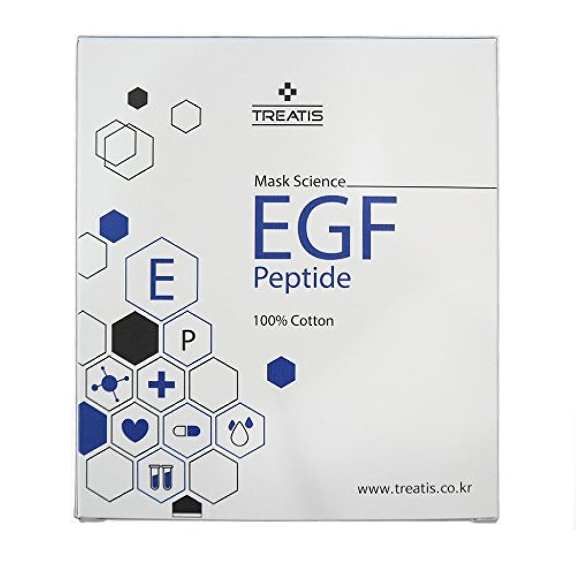 国勢調査試験楽観的贈呈品ありTREATIS EGF PEPTIDE MASK PACK (10 Sheet) [並行輸入品]