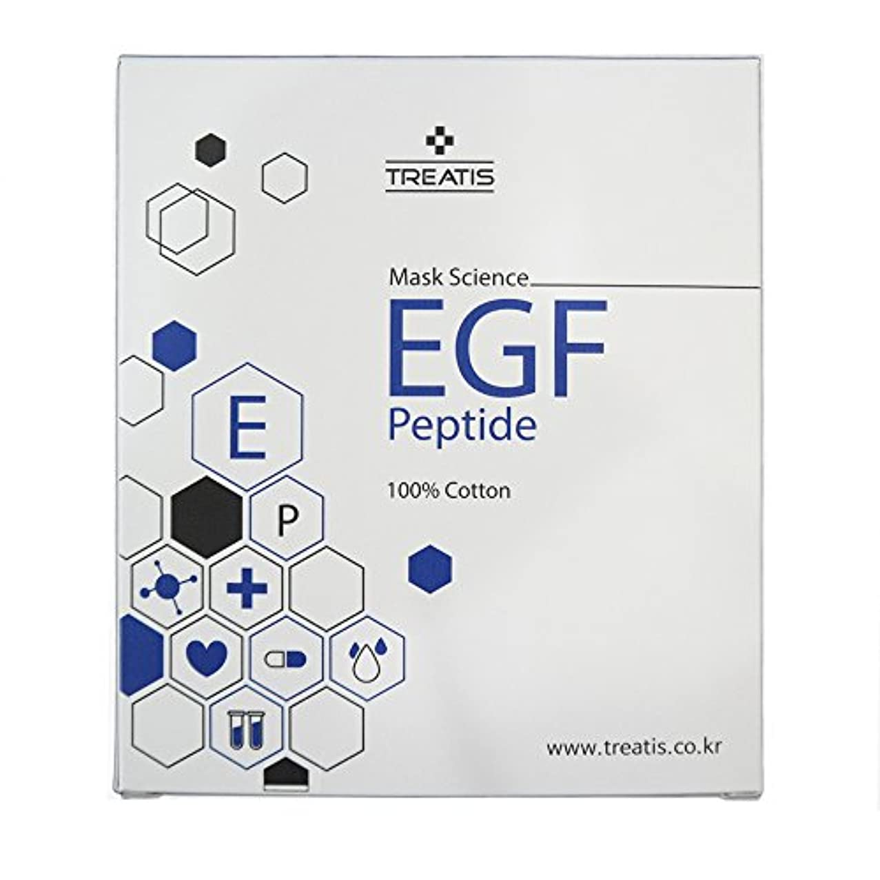 ♥贈呈品あり♥TREATIS EGF PEPTIDE MASK PACK (10 Sheet) [並行輸入品]
