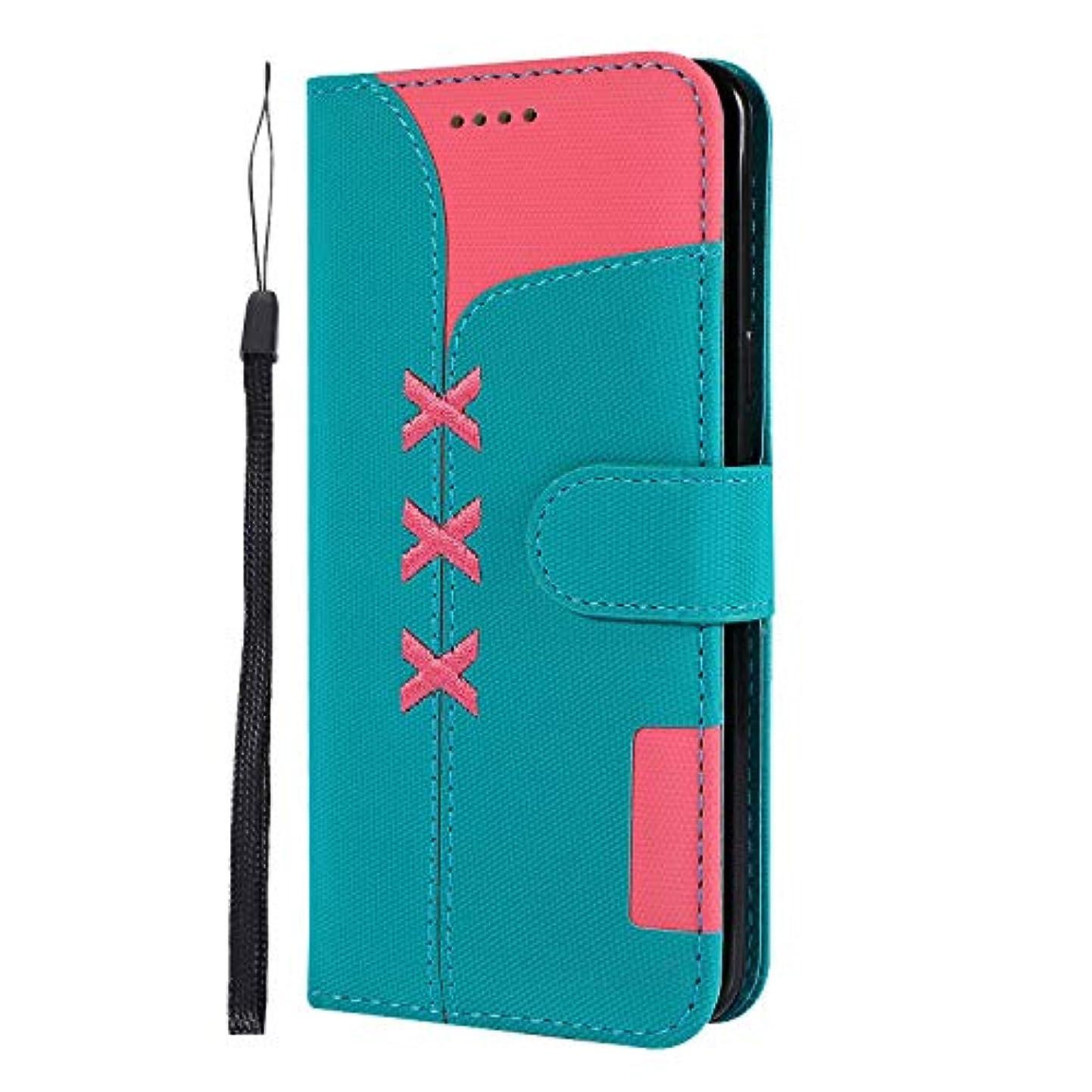 Lomogo Galaxy S9 / docomo SC-02K / au SCV38 ケース 手帳型 耐衝撃 レザーケース 財布型 カードポケット スタンド機能 マグネット式 ギャラクシーS9 手帳型ケース カバー 人気 - LOGHU040227 青
