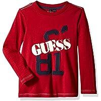 Guess Boys' Little Long Sleeve Slash Graphic Logo T-Shirt