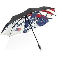 leisisiポータブルコンパクト折りたたみ傘防風UV保護傘