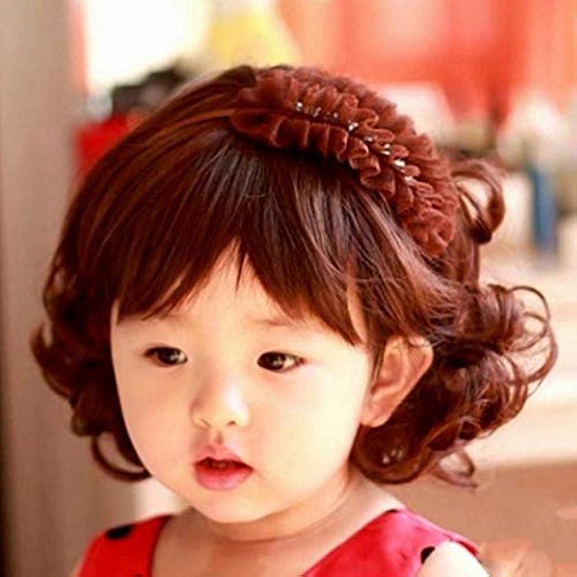 チャールズキージング中央値タップ素敵な愛らしい男の子女の子ヘアウィッグフルヘッド子供用ウィッグかわいい子供たちは毎日5-10歳のヘアピースを着用-ブラウン