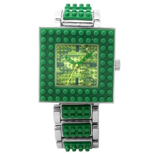 [ナノブロック]nanoblock デコレーション腕時計 おまけフィギア付 ユニセックスウォッチ カモフラージュ柄 グリーン NA-2629DG レディース 【並行輸入品】