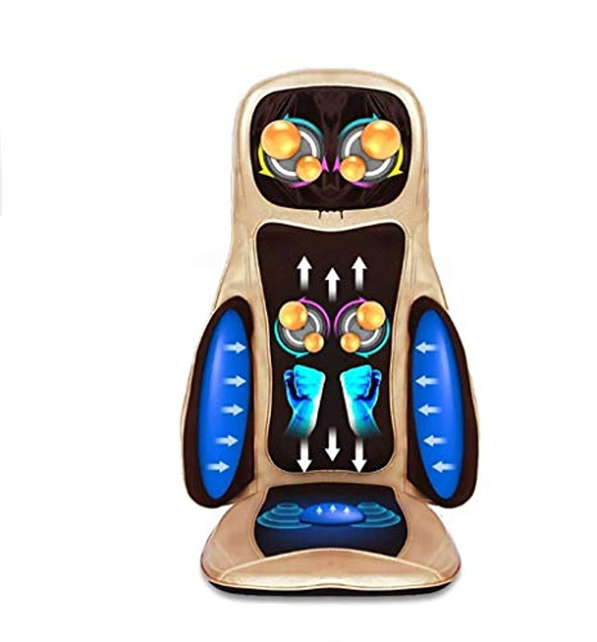 タイマー著作権ボイドカーマッサージクッション、多機能マッサージクッション、ホームオフィスマッサージャー、全身マッサージマシンの深い混練、熱振動、体の痛みや疲労を軽減
