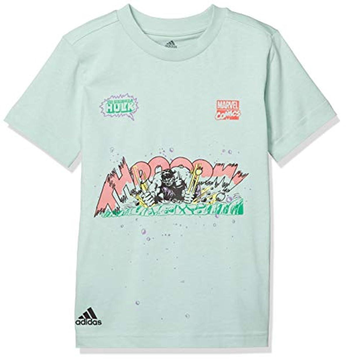 まだら工業用デコレーション[アディダス] 半袖 Tシャツ キッズ マーベル ハルク グラフィック 半袖Tシャツ GUW19