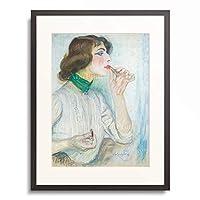フランティセック・クプカ František Kupka 「Portrait of a Woman. 1907-09」 額装アート作品