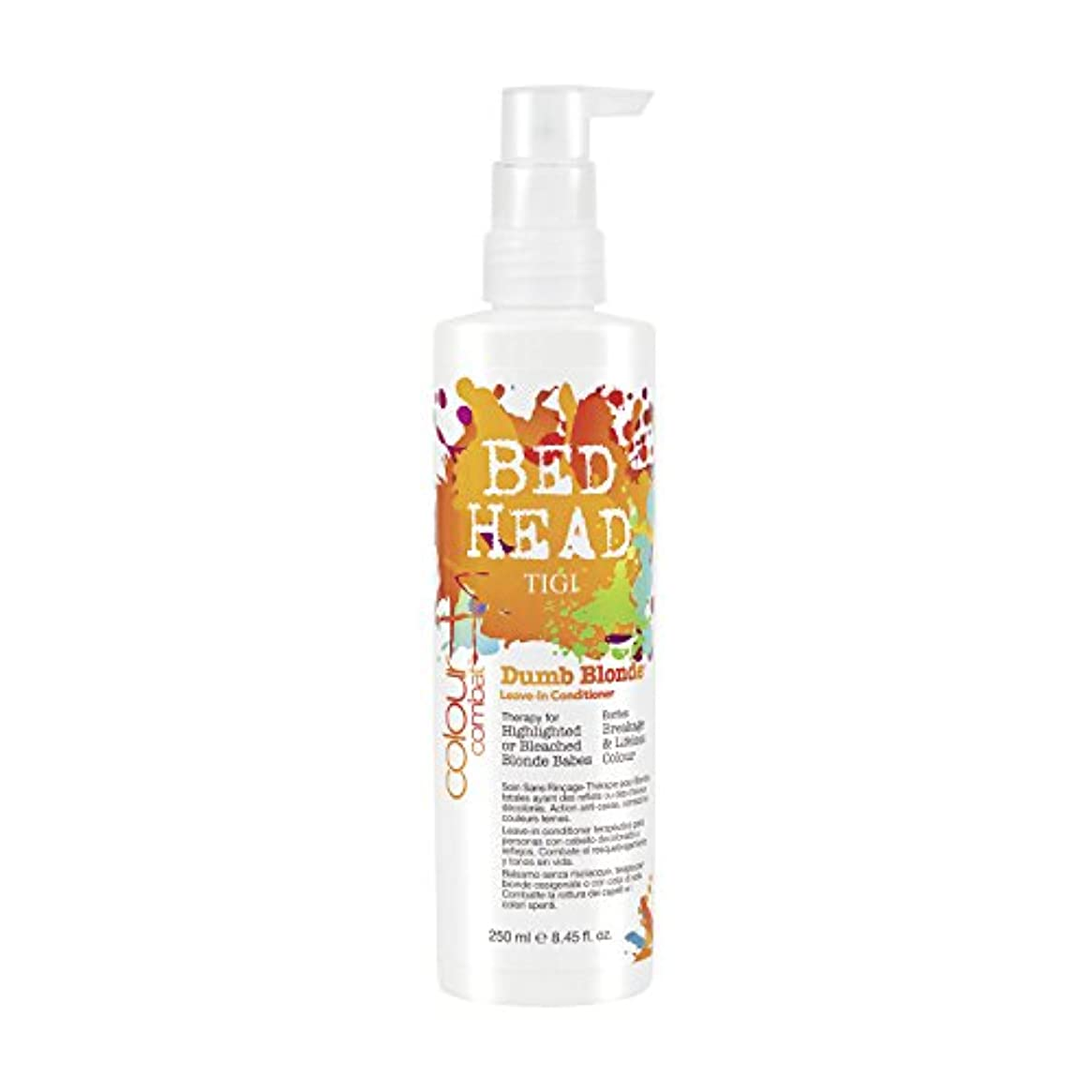宗教ひもスプリットTIGI Bed Head Colour Combats Dumb Blonde Leave In-Conditioner 250ml (並行輸入品)