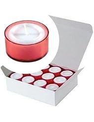 カメヤマキャンドル(kameyama candle) カラークリアカップティーライト24個入り 「 レッド 」