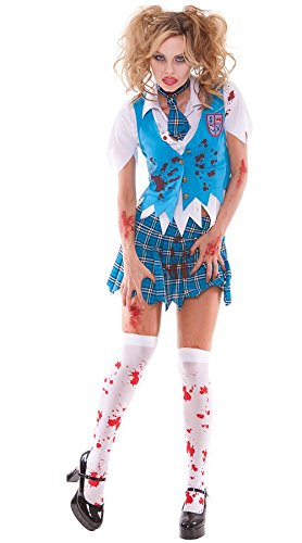 【即納】Elegant Moments Zombie School Girl Costume ハロウィンコスチューム スクールガール ホラー・ゾンビ [サイズ:S]