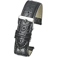 Genuine Leather Watch Band Strap in Shiny Croco Grain Finish -White, Black, Brown, Orange in Sizes 12,14,16,18,20, 22, 24 mm