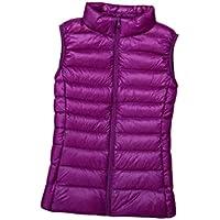 EnergyWD Women's Stand Collar Zipper Lightweight Skinny Keep Warm Jacket Gilet