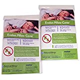 Evolon Allergy Pillow Protector   Standard Zippered Encasement  Dust Mite, Bed Bug & Allergen Proof Cover (2, 21x37)