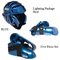 Lightning Blue Karate Sparring Gear Package Deal - Child Small