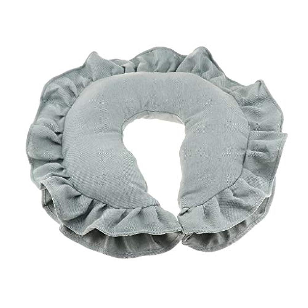 違う知り合いになる与えるマッサージピロー ネックピロー 顔枕 U字型 洗えるカバー 柔軟性 快適 全4色 - 緑