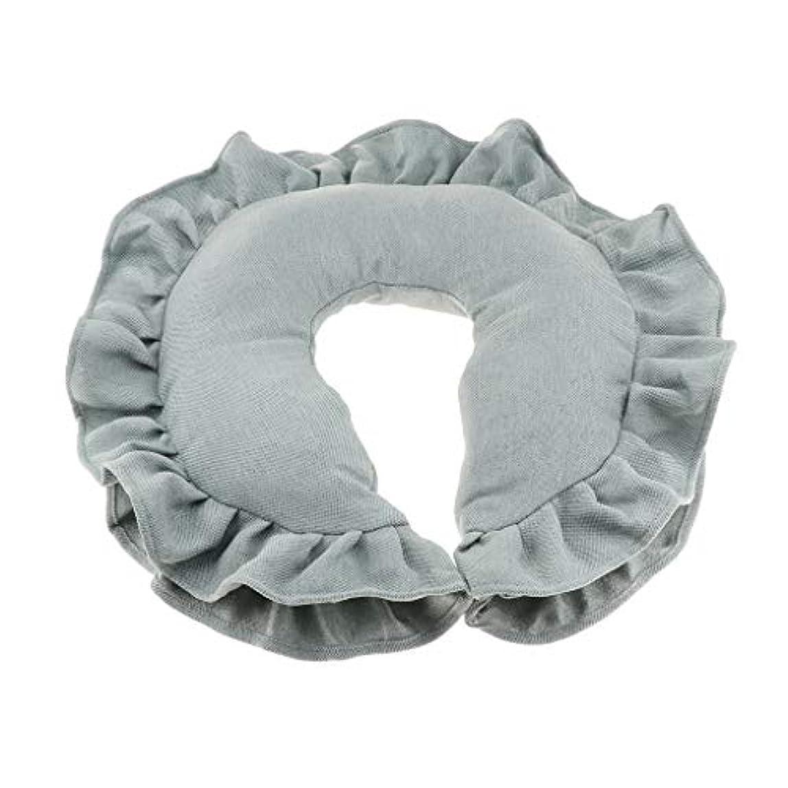 スキム麻酔薬緩めるマッサージピロー ネックピロー 顔枕 U字型 洗えるカバー 柔軟性 快適 全4色 - 緑
