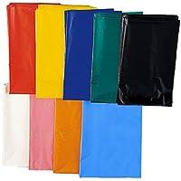 カラーポリ袋 10枚入 650×800×厚さ0.04mm 水色
