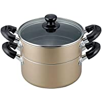 和平フレイズ 両手鍋 蒸し器 二段 20cm IH対応 ふっ素樹脂加工 おおらか鍋 OR-7131