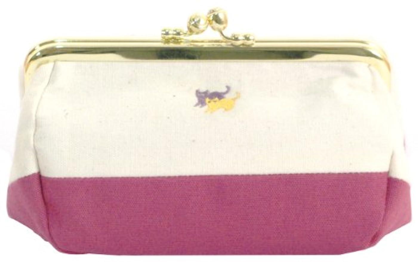 こどもの宮殿国旗最悪宮本 がま口化粧ポーチ 『町娘のこふれぽーち』 猫 7336