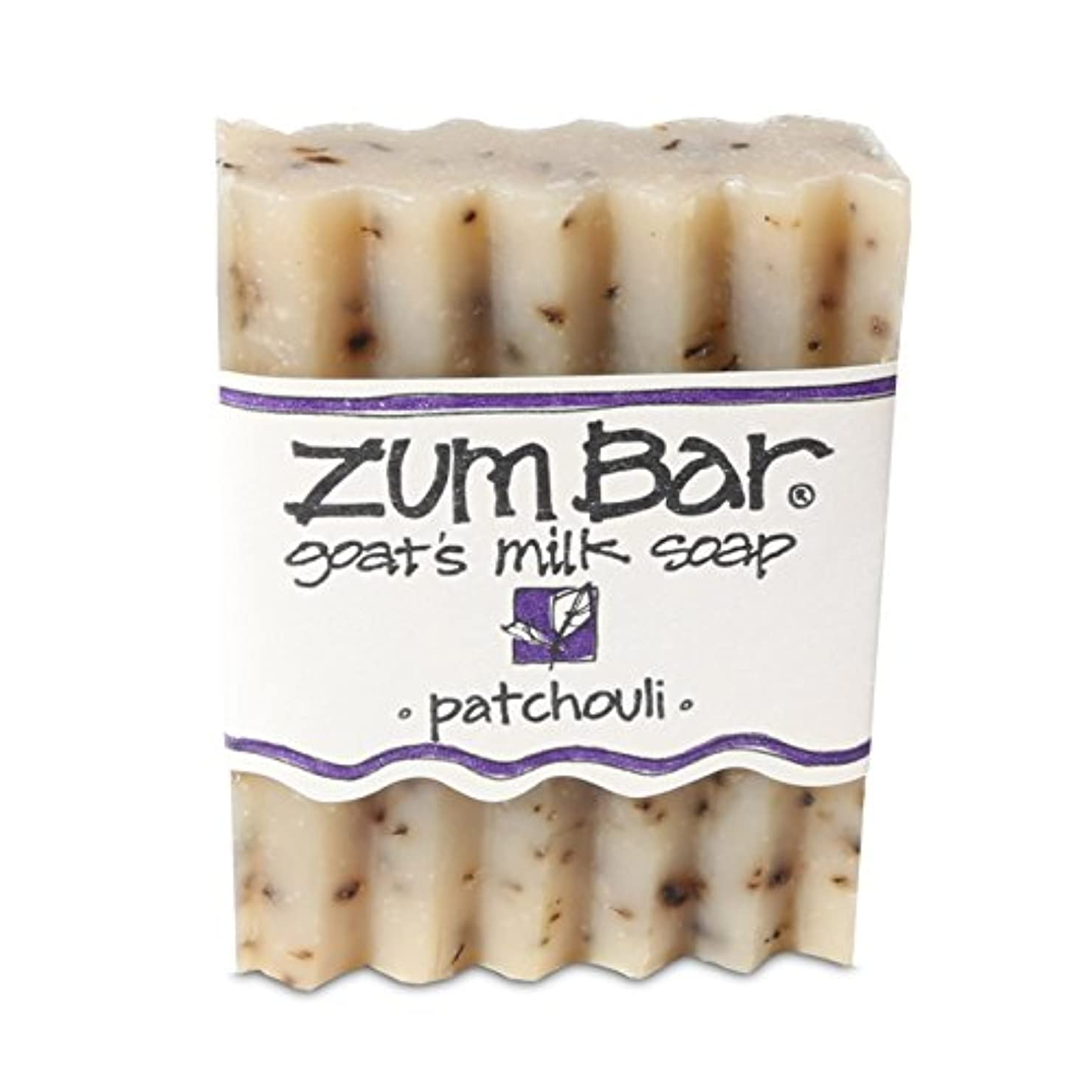 とげノイズスパン海外直送品 Indigo Wild, Zum Bar, Goat's ミルク ソープ パチョリ, 3 Ounces (2個セット) (Patchouli) [並行輸入品]