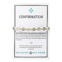My Saint My Hero Confirmation Blessing Bracelet - Tan/Silver [並行輸入品]