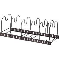 アネスティカンパニー  スタイルフリー 伸縮式 フライパン ラック  ブロンズカラー 19×33×17.5cm 鍋 鍋蓋の収納に HO1683