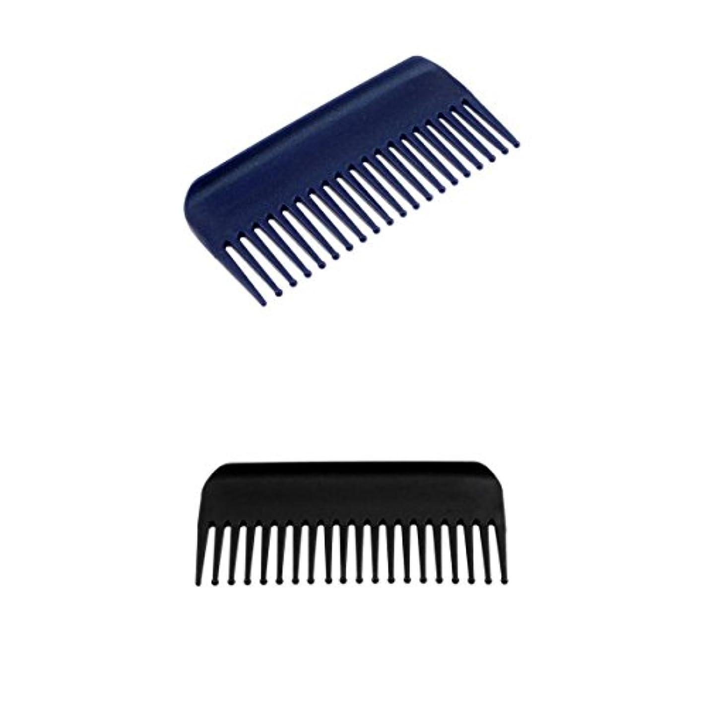 平らなフィットネス匹敵します2個19歯解くこと髪くしヘアコンディショニングレーキくしワイド歯ヘアブラシサロン理容ツール