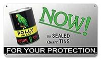なまけ者雑貨屋 Polly Gas Oil ブリキ看板 アメリカン 壁掛けプレート レトロ雑貨 インテリア