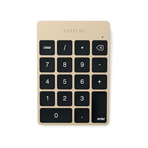 Satechi スリム ワイヤレス Bluetooth テンキー18キーiMac, Macbook, Macbook Pro 対応 (ゴールド)