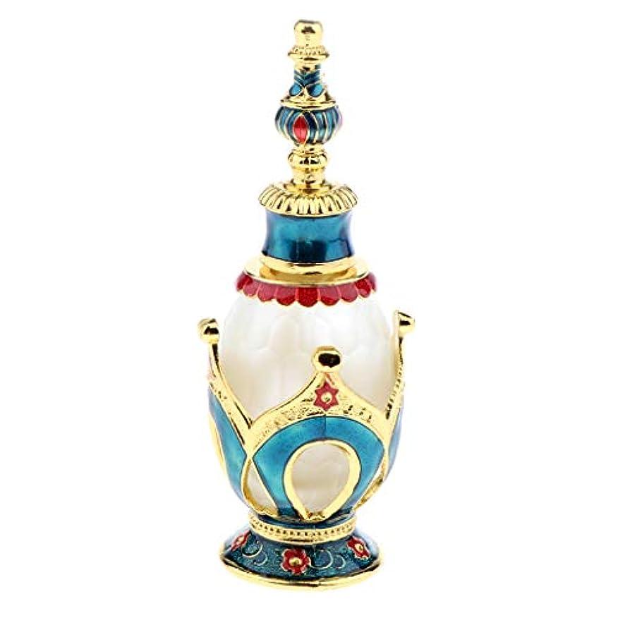 天窓ドループ研究所香水ボトル 香水瓶 ガラスボトル 華やか レトロ 旅行 小分け容器 3色選べ - ブルーゴールド