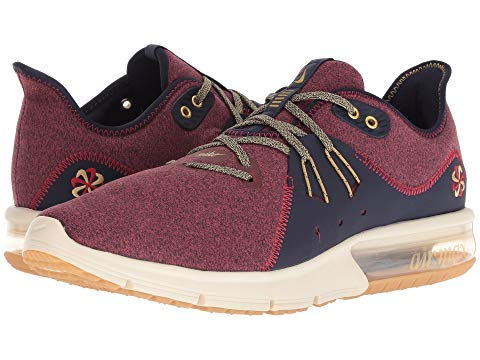 NIKEナイキ メンズスニーカー・靴・シューズ Air Max Sequent 3 Premium Red Crush/Wheat Gold/Blackened Blue US 8.5 26.5cm D - Medium 並行輸入品