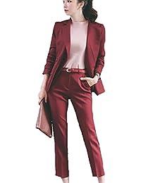 BCSY レディース スーツ パンツスーツ セットアップ テーラードジャケット 事務服 ビジネス フォーマル 通勤 オフィス OL 就活 入学式 卒業式