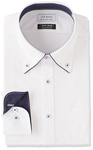 [アオキ] ノーアイロン ボタンダウンシャツ メンズ EXLM1302A シロ 日本 M (日本サイズM相当)