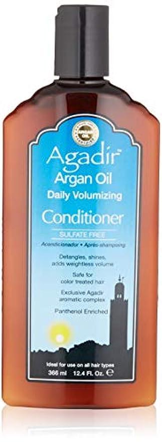 優れた攻撃溝by Agadir ARGAN OIL DAILY VOLUME CONDITIONER 12.4 OZ by AGADIR