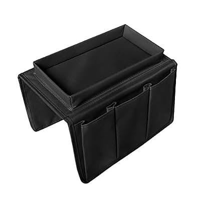 ソファ掛け袋+ブラック収納袋 ベッド サイド ポケット こたつ テーブル掛け袋 小物入れ 便利 多機能 テーブル小物 整理 収納ポケット インテリア ベッドサイド 吊り下げ リモコンラック 雑貨整理 ブラック