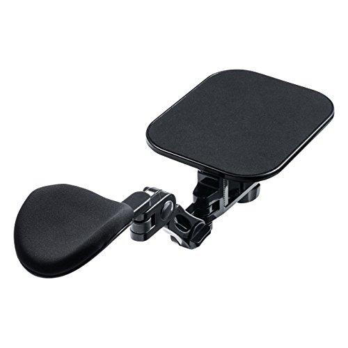 サンワダイレクト アームレスト マウスパッド付き 可動式アーム 疲労軽減 クランプ取付 ブラック 200-TOK010BK