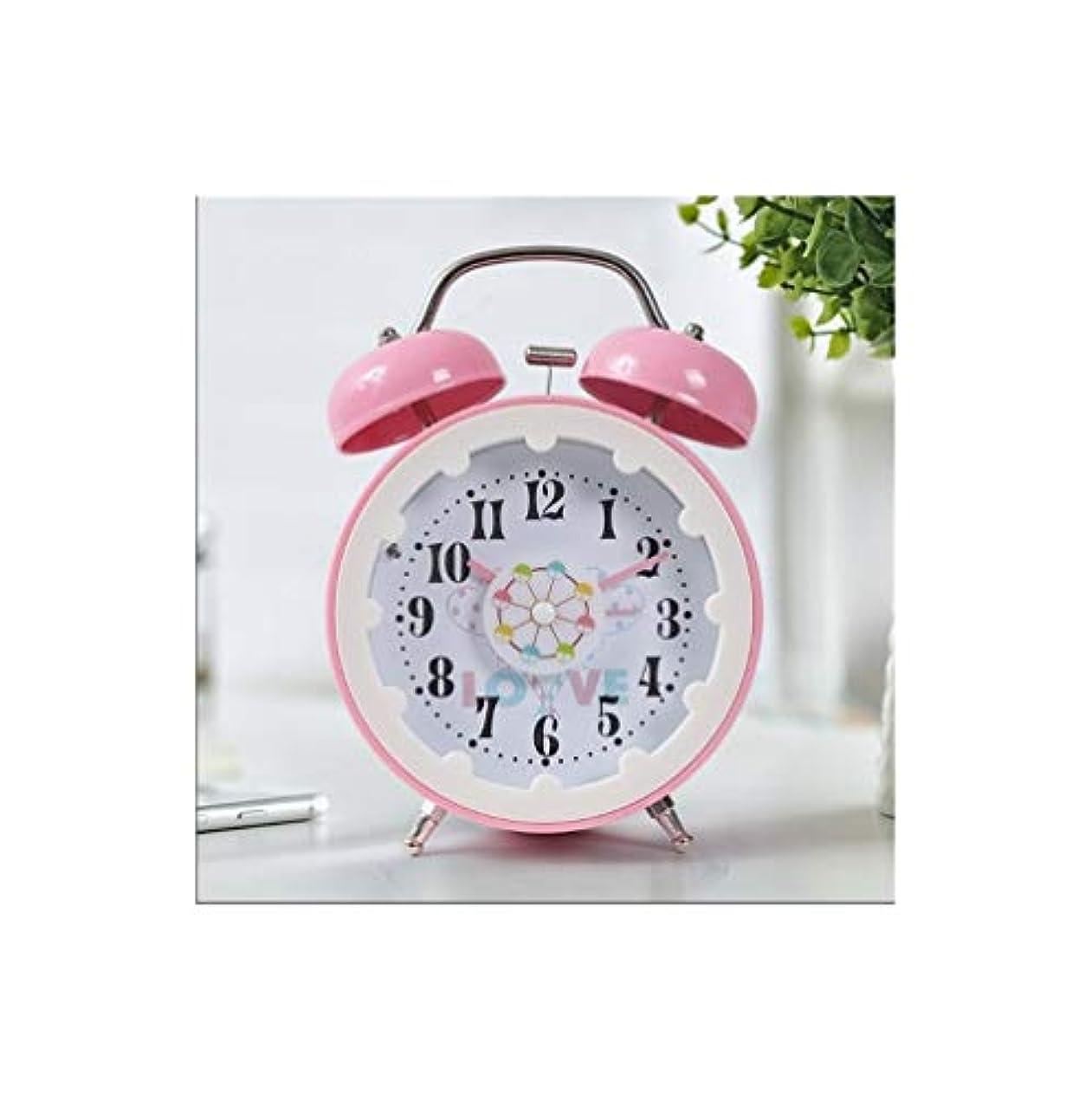 繁殖告白代わりにKaiyitong001 目覚まし時計、創造的な学生の枕元の時計、漫画の装飾パーソナリティ時計、サイレントファッションウォッチ、アーティファクトを覚ます、(青、ピンク、)(16 * 11 * 6 cm) (Color : Pink)