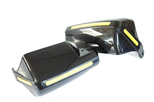 汎用 ナックル ガード 左右 取付金具 セット 【ADVANTAGE】 バイク 防風 防寒 ハンド ガード バイザー (ブラック)