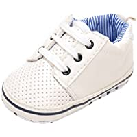 Estamico Baby Boys' Faux Leather Toddler Sneaker