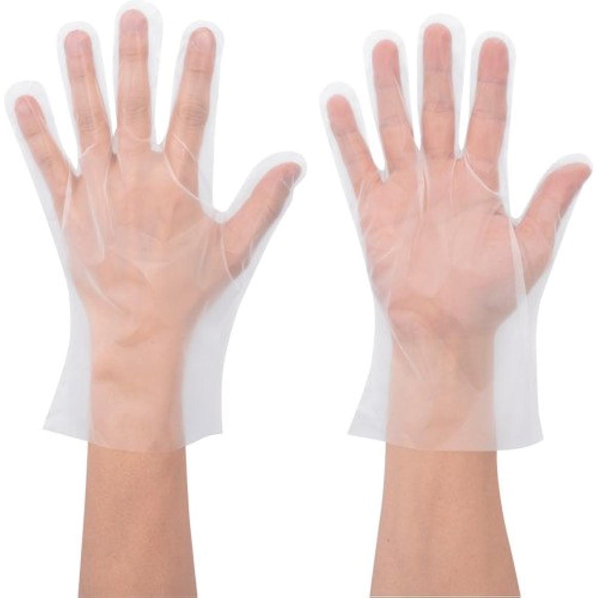 硬さ正当なボーダーポリエチ手袋 No.826 Lサイズ