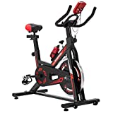 KUOKEL スピンバイク エアロバイク 摩擦負荷 調節可能 フィットネスバイク トレーニング用静音 マッスルジーニアス 酸素運動