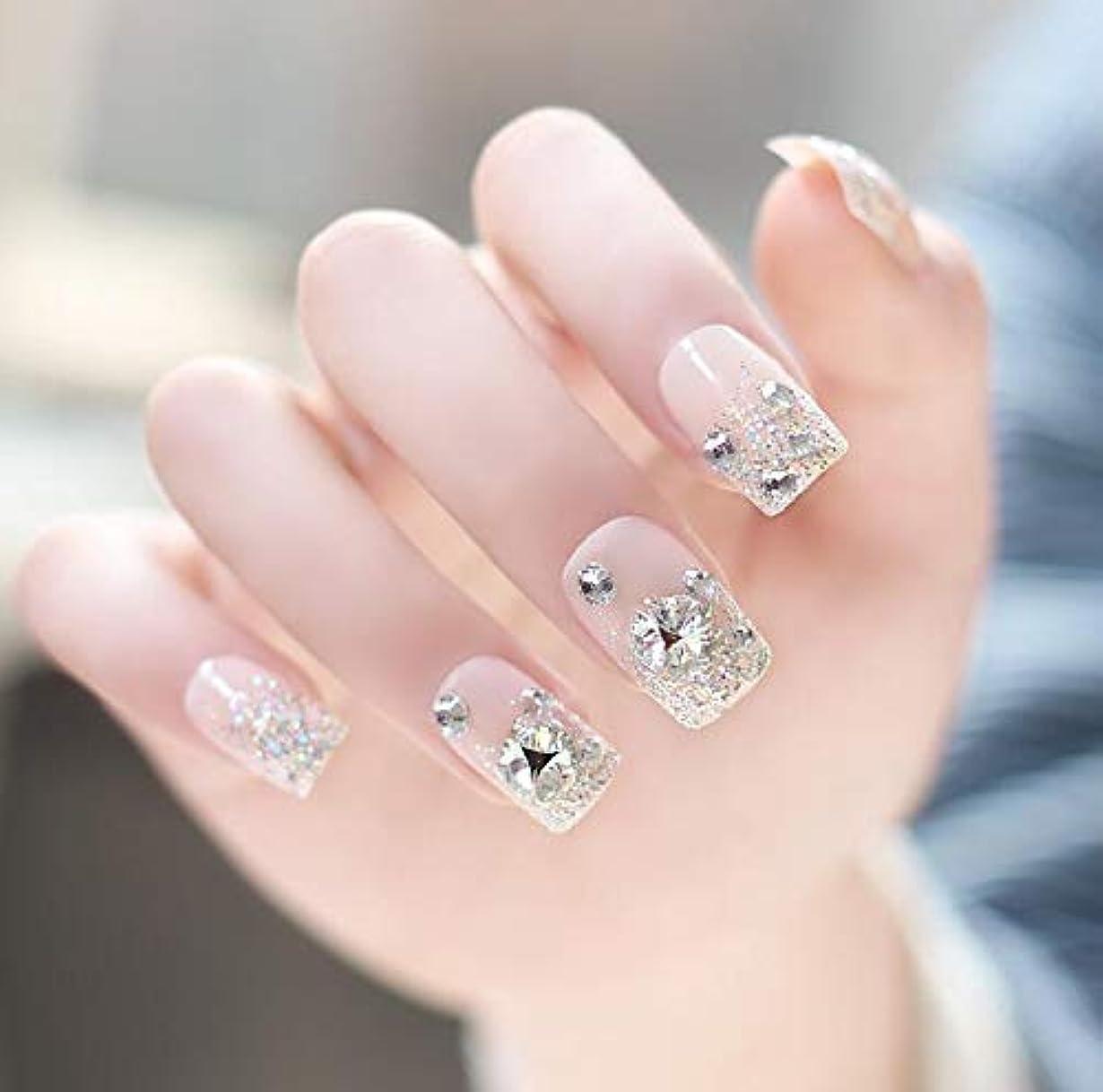 インド強制選挙YUJIA ネイルチップ つけ爪 付け爪 つけ方簡単 ネイル デコネイルコレクション シール ハロウィン 母の日 パーティ 人気 毎日変身 24枚セット (E)