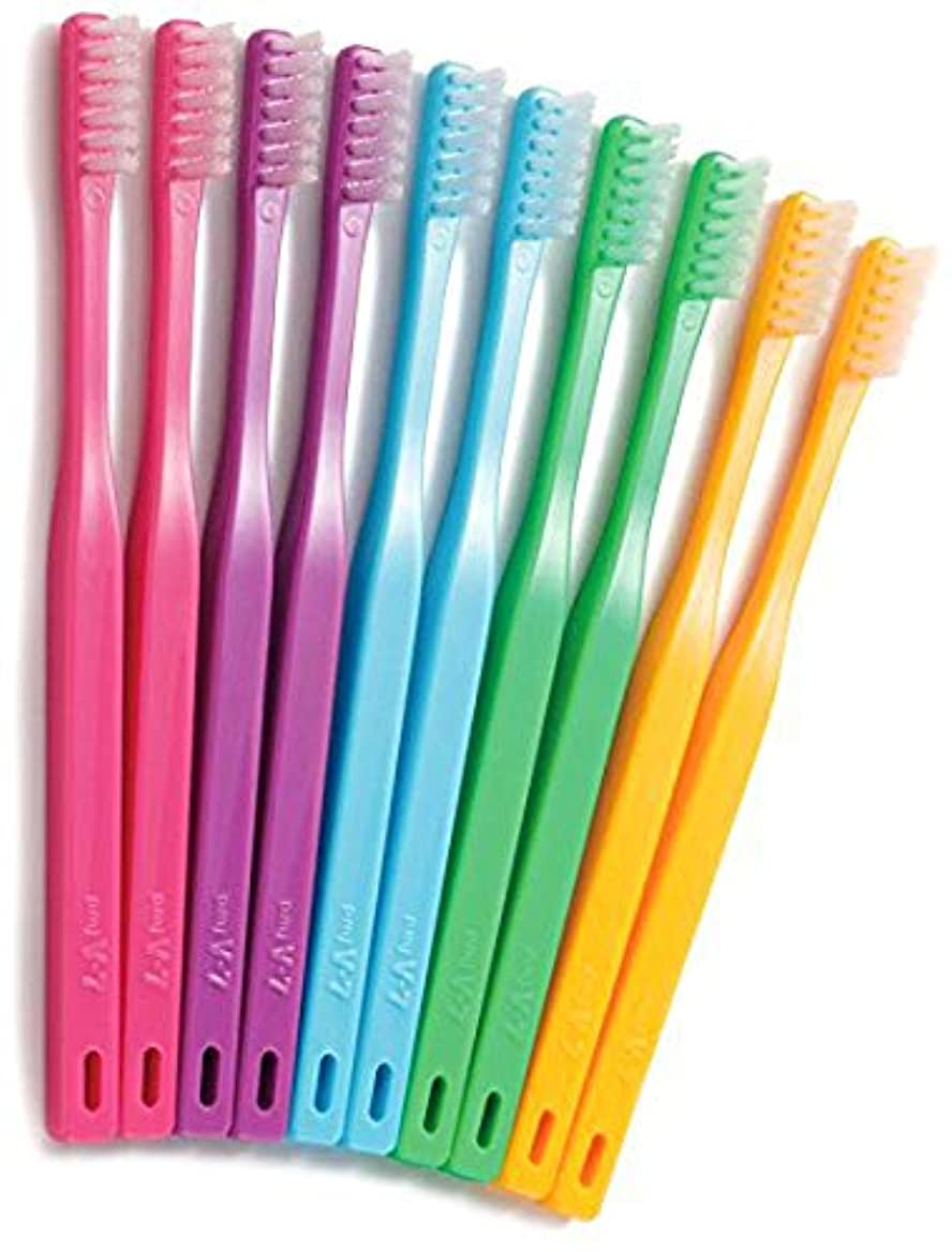 郵便物訪問水つまようじ法歯ブラシ V-7 ビビッドカラー レギュラーヘッド 5本
