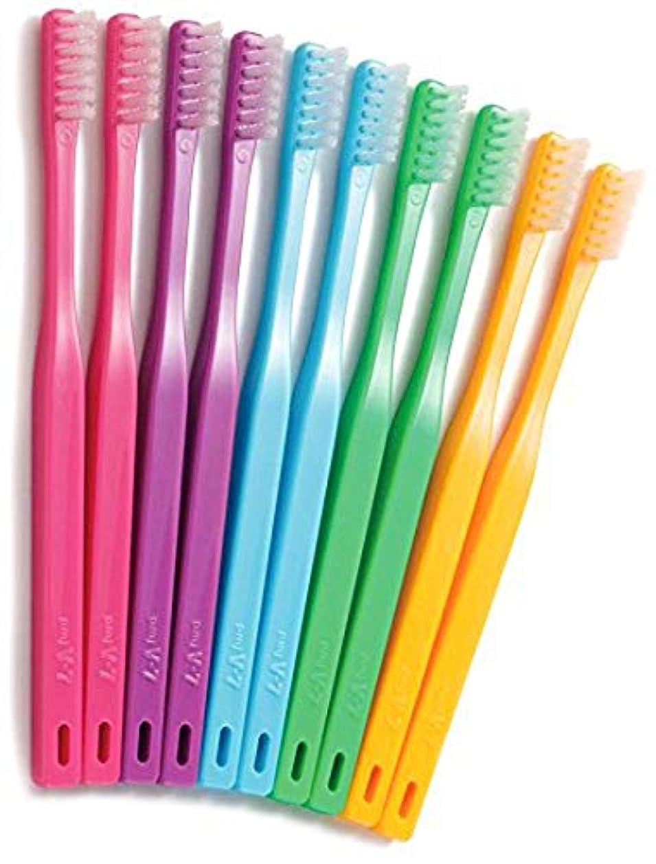 童謡深さ分割つまようじ法歯ブラシ V-7 ビビッドカラー レギュラーヘッド 3本
