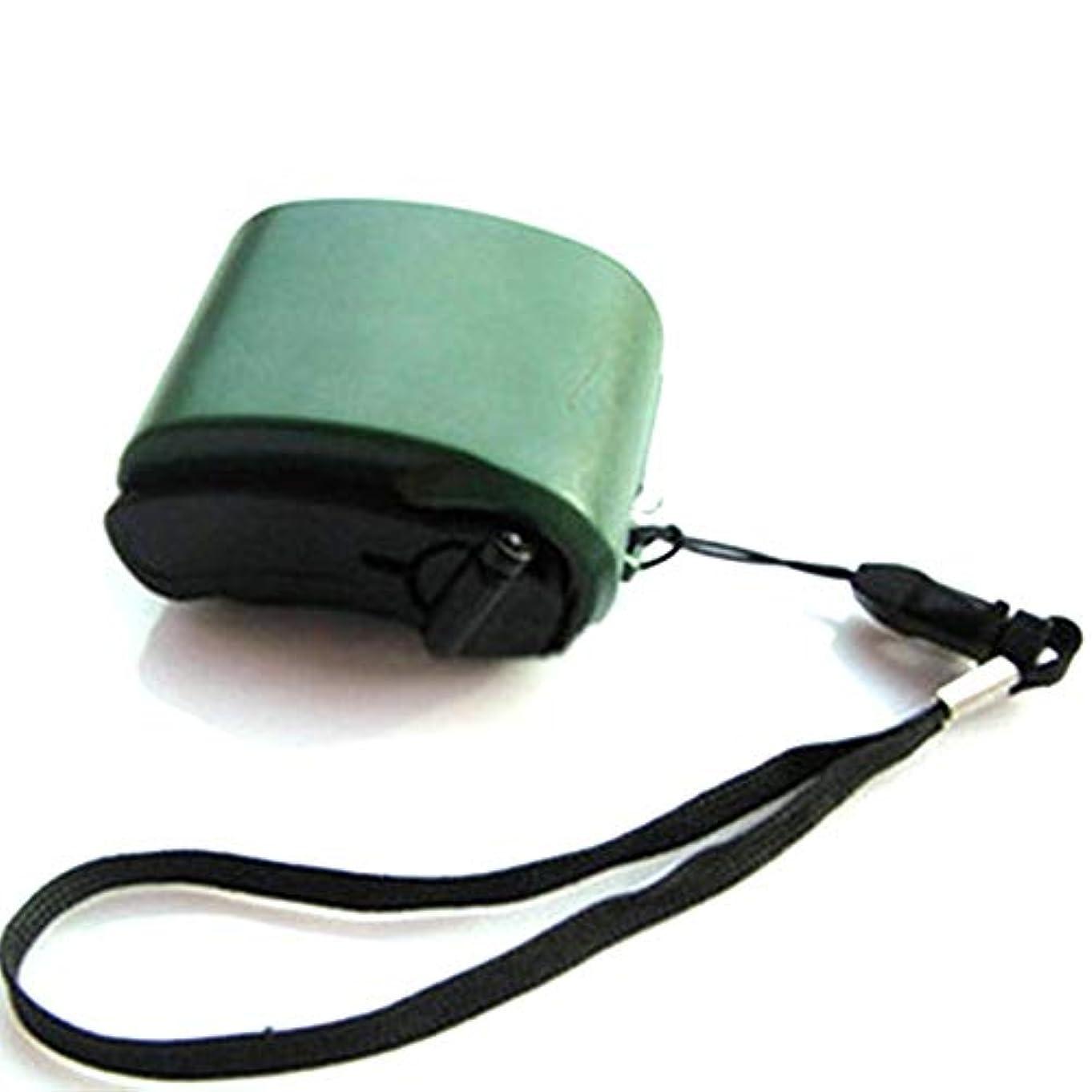 星導出レンドミニハンドクランクUSBラジオ懐中電灯携帯電話充電器ポータブル屋外旅行用緊急手動発電機充電器-グリーン