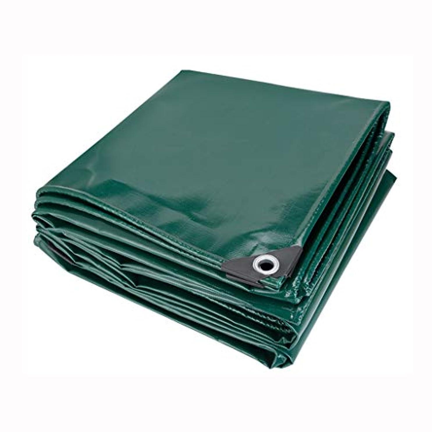 惨めな混合した特別なアウトドア ターポリン極太ターポリンナイフ掻き布レインクロス厚キャンバス三反布アウトドアサンシェードオーニングシェルター テント (Color : Green, Size : 300*300cm)