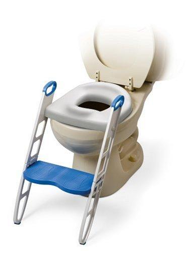 マミーズヘルパー(MOMMY'S HELPER) トイレトレーニング 補助便座 ステップ付 (折りたたみ式) 滑りにくいハンドル 踏み台 ふかふか 柔らかい便座 BCMH11148