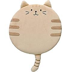 チヤミ 座布団 低反発 猫柄 クッション カーペット 椅子用 かわいい ふわふわ 猫用マット 両用(イエロー)